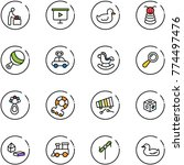 line vector icon set   baby... | Shutterstock .eps vector #774497476