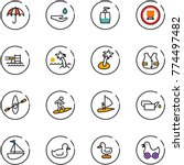line vector icon set  ... | Shutterstock .eps vector #774497482