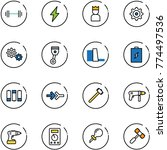 line vector icon set   barbell... | Shutterstock .eps vector #774497536