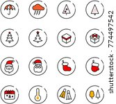 line vector icon set  ... | Shutterstock .eps vector #774497542