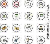line vector icon set   no... | Shutterstock .eps vector #774497626
