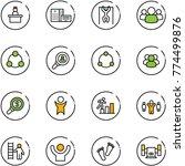 line vector icon set  ... | Shutterstock .eps vector #774499876