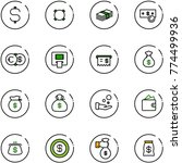 line vector icon set   dollar... | Shutterstock .eps vector #774499936