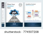 cover book design template with ... | Shutterstock .eps vector #774507208