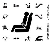 passenger seat airplane icon.... | Shutterstock .eps vector #774507652