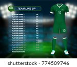 saudi arabia soccer jersey kit... | Shutterstock .eps vector #774509746