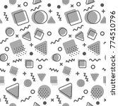 memphis pattern background | Shutterstock .eps vector #774510796