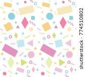 memphis pattern background | Shutterstock .eps vector #774510802