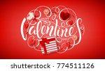 happy valentine's day red... | Shutterstock .eps vector #774511126