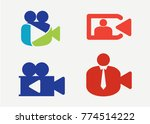 video recording logo set... | Shutterstock .eps vector #774514222
