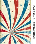 Tricolor grunge circus background. A patriotic circus background for a poster. - stock vector