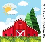 big barn at day time... | Shutterstock .eps vector #774517726