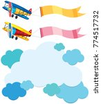 cloud template and two... | Shutterstock .eps vector #774517732