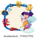border template with little... | Shutterstock .eps vector #774517792