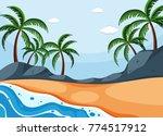 background scene with coconut... | Shutterstock .eps vector #774517912