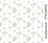 floral pattern from simple... | Shutterstock .eps vector #774518992