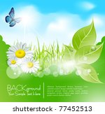 vector spring banner with ... | Shutterstock .eps vector #77452513