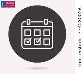 calendar   outline icon....   Shutterstock .eps vector #774530026