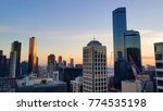 melbourne city skyline in... | Shutterstock . vector #774535198
