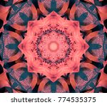 abstract decorative red texture.... | Shutterstock . vector #774535375