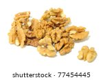 walnuts isolated on white... | Shutterstock . vector #77454445