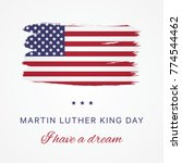 martin luther king day vector... | Shutterstock .eps vector #774544462
