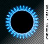 round blue flame. burner plate... | Shutterstock .eps vector #774551506