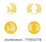 rice food meal logo and symbols ... | Shutterstock .eps vector #774552778