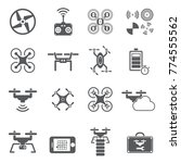drone icon  icon   flying set   ... | Shutterstock .eps vector #774555562