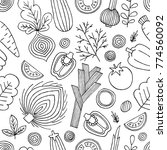 vegetables seamless pattern.... | Shutterstock .eps vector #774560092