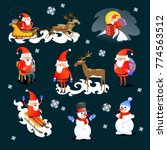 merry christmas and happy new... | Shutterstock .eps vector #774563512