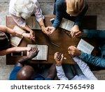 diverse religious shoot  | Shutterstock . vector #774565498