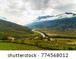 rice fields on terraced...   Shutterstock . vector #774568012