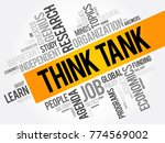 think tank word cloud collage ... | Shutterstock .eps vector #774569002