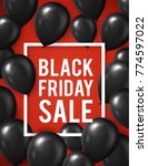 black friday sale poster with... | Shutterstock . vector #774597022