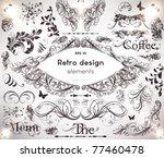 vector decorative design... | Shutterstock .eps vector #77460478