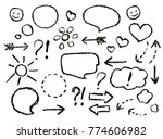 drawing speech bubbles. crayon... | Shutterstock .eps vector #774606982
