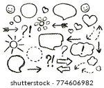 drawing speech bubbles. crayon... | Shutterstock .eps vector #774606982