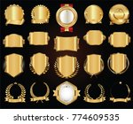 luxury retro badges gold and... | Shutterstock .eps vector #774609535