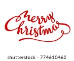 merry christmas red hand... | Shutterstock .eps vector #774610462