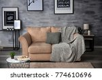 interior of living room with...   Shutterstock . vector #774610696