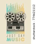 retro style poster design with... | Shutterstock .eps vector #774621112