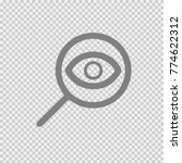 magnifying glass with eye... | Shutterstock .eps vector #774622312