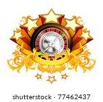 roulette insignia  10eps | Shutterstock .eps vector #77462437