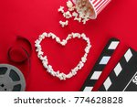 composition with popcorn and... | Shutterstock . vector #774628828