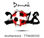 abstract number 2018 and soccer ... | Shutterstock .eps vector #774630142