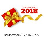 happy new year 2018. chinese... | Shutterstock .eps vector #774632272
