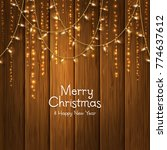 christmas card with light bulbs ... | Shutterstock .eps vector #774637612