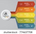 5 steps infographics element... | Shutterstock .eps vector #774637708