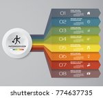 8 steps infographics element... | Shutterstock .eps vector #774637735